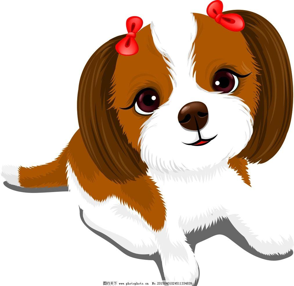 卡通狗-可爱的狗 卡通