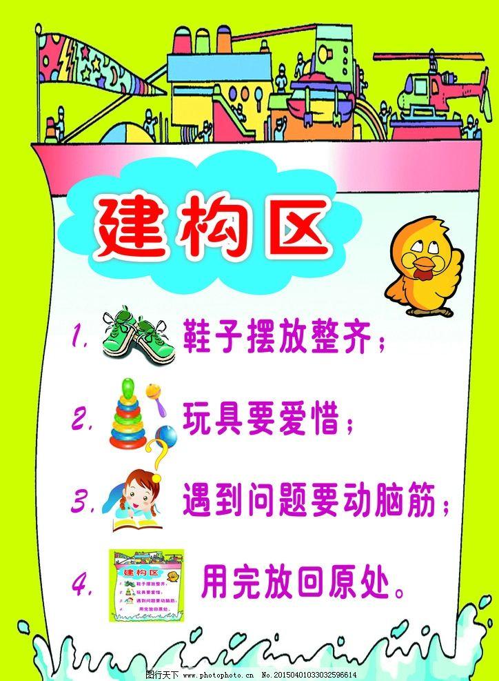 幼儿园区域规则图片