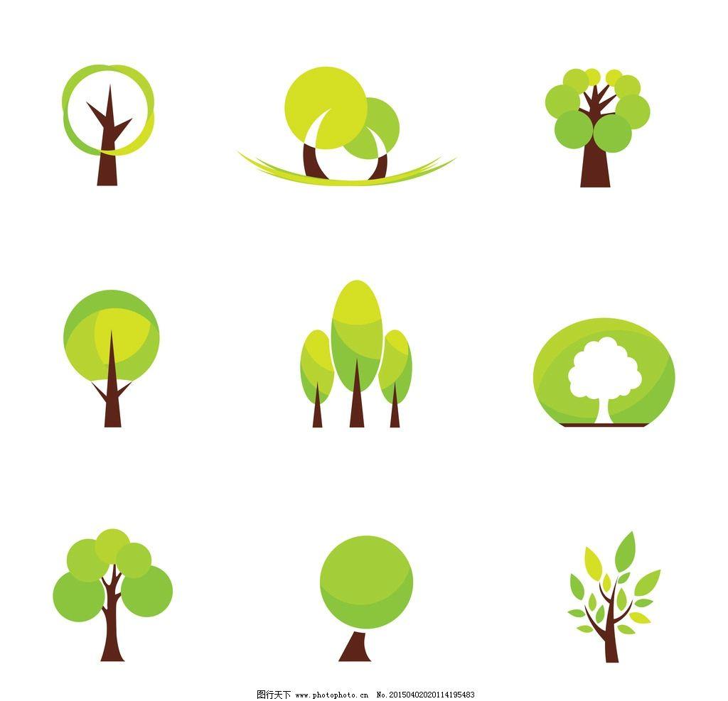 春天 抽象树 树 树林 树素材