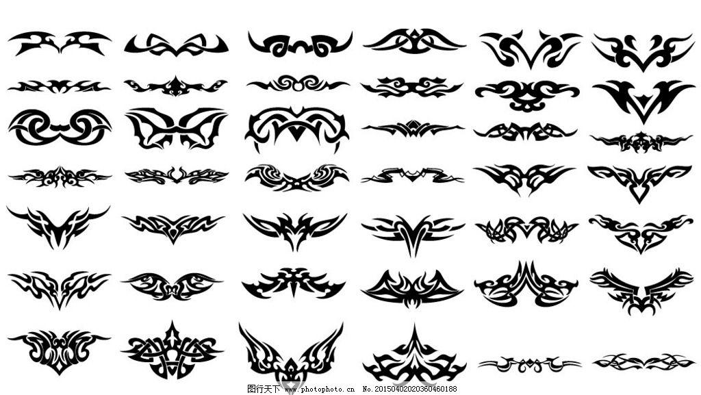 纹身 手绘 图腾 花纹 纹样 花边 纹身图案 设计 矢量 eps 设计 底纹