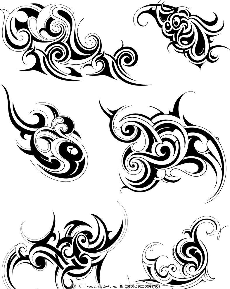 纹身 手绘 图腾 花纹 纹样 花边 纹身图案 设计 矢量 eps 设计 底纹图片