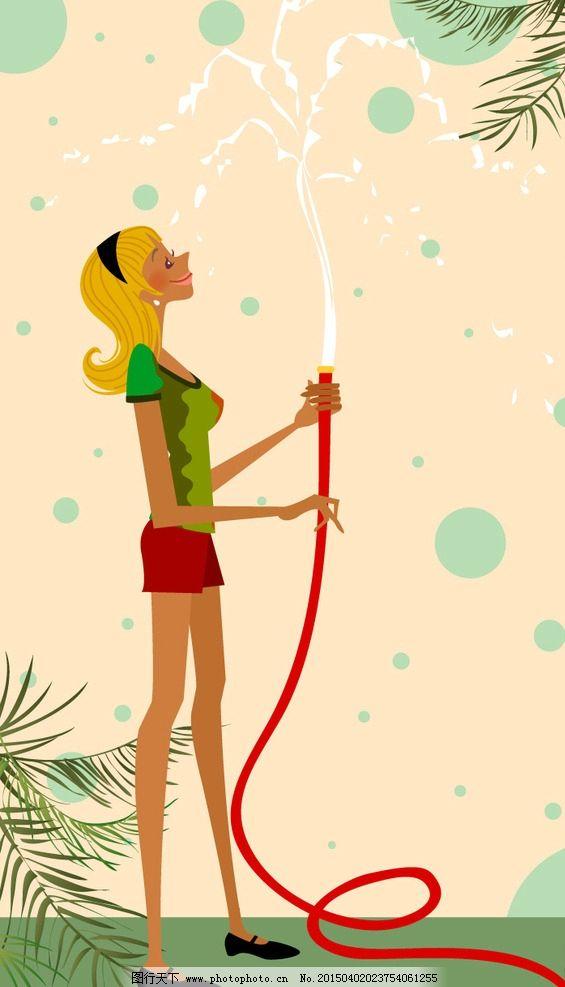 时尚女性 跳舞 舞蹈 花纹背景 简笔 花纹 运动女性 妇女女性 矢量人物