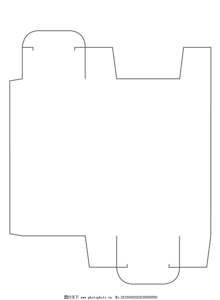 长方形 规则 纸盒 展开图