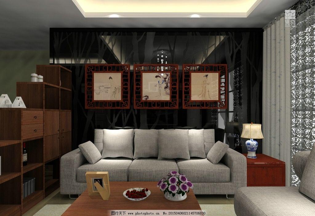客厅背景墙      客厅效果图