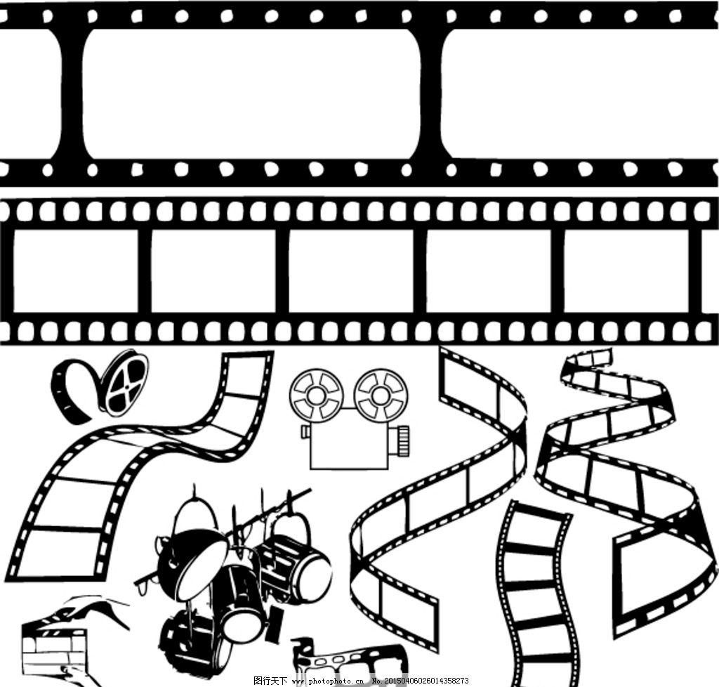 电影胶片 胶片 黑白电影胶片