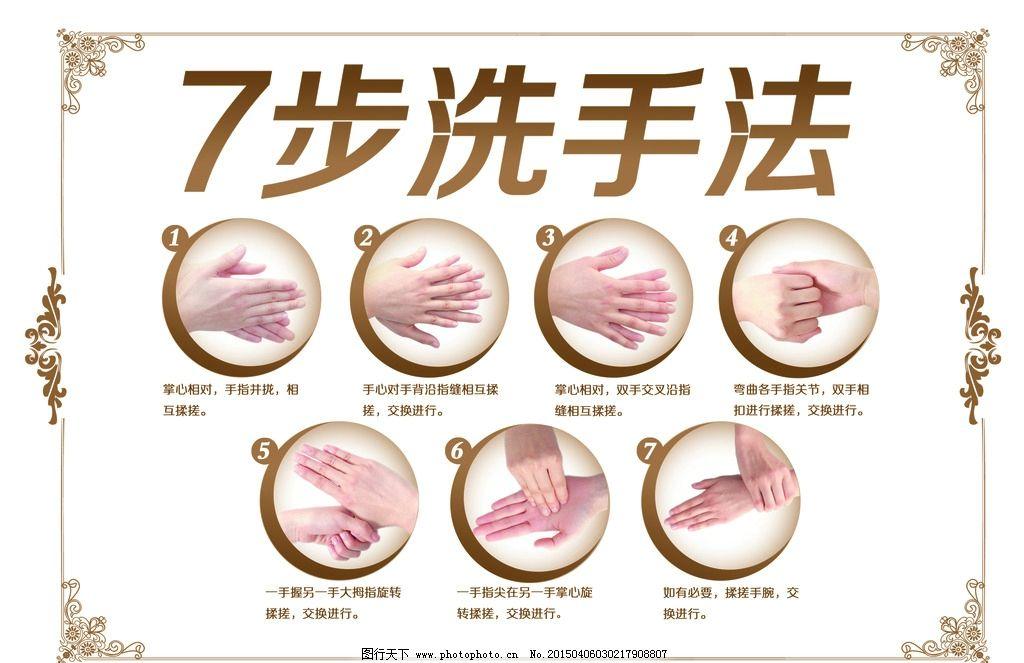 洗手 洗手牌 七步洗手法