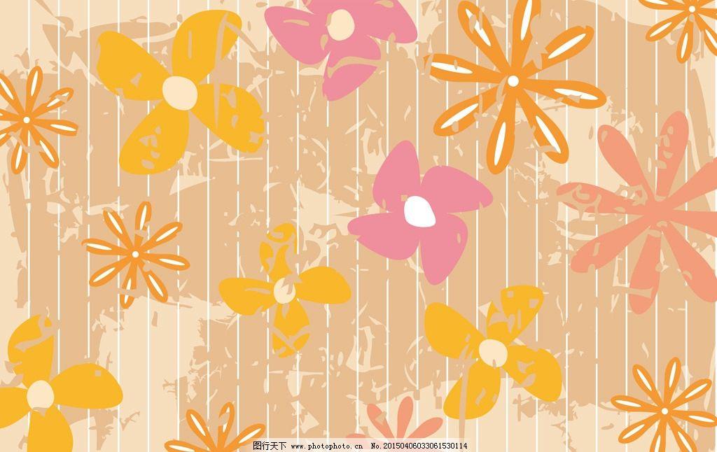 手绘花卉 背景墙 影视背景墙 花卉 壁纸 psd 高清分层 文艺 小清新