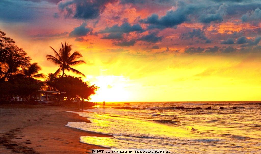 唯美秦皇岛夕阳图片,风景 风光 旅行 自然 大海 海边