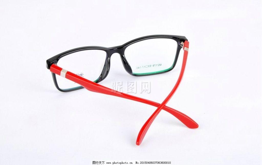 黑框红腿眼镜图片