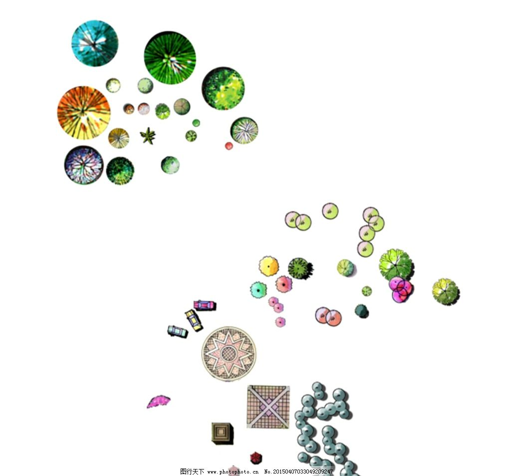 小区景观设计平面高清_ps树木平面素材图片_ps树木平面素材图片下载