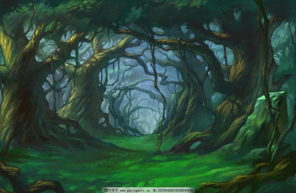 手绘头像森林图片大全