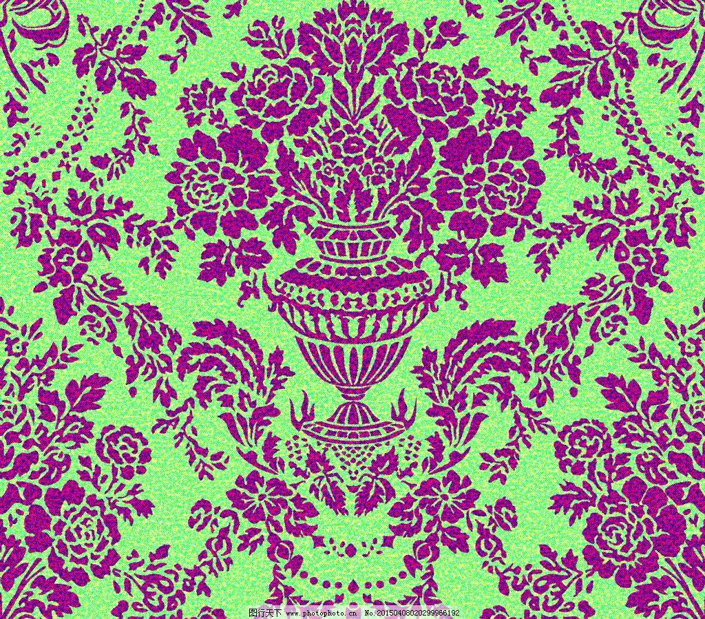 团花 大马士革 欧式 墙纸 花型 欧式花型 设计 底纹边框 背景底纹 120