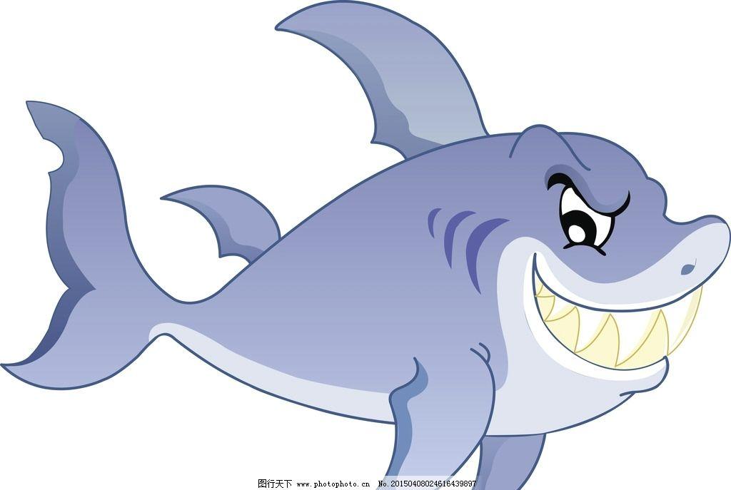 鲨鱼卡通图片