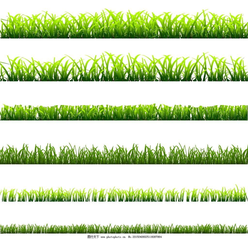 草地 绿叶 小草 手绘花草 矢量