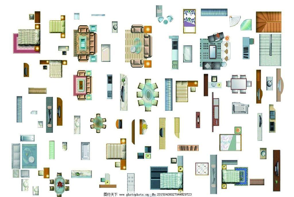 cad家具图块 平面图块 沙发 电视柜