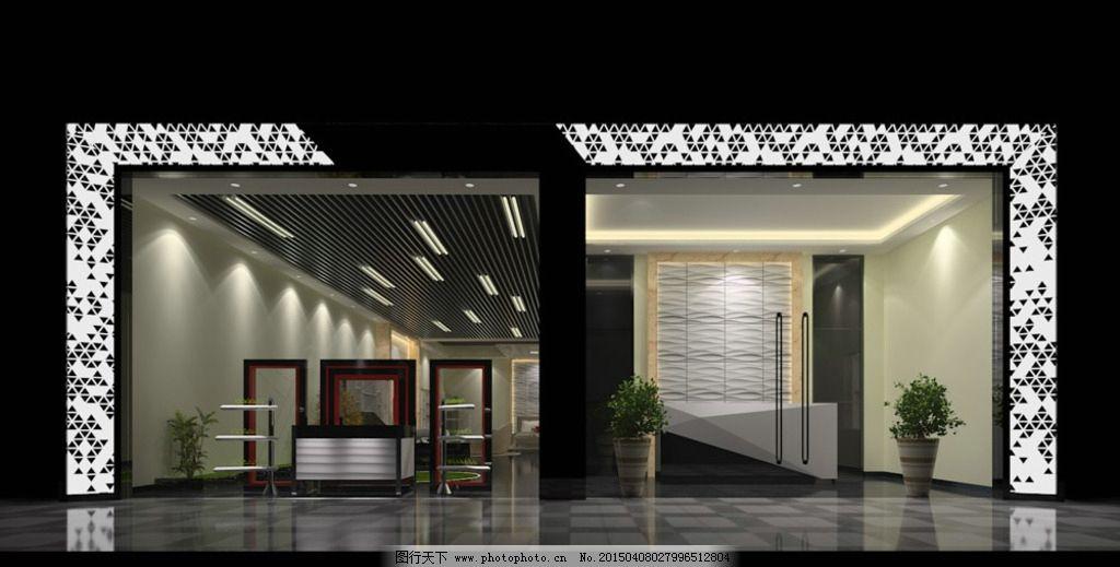 专卖店门头 店面效果图 现代时尚 室内设计 简约明快 设计 环境设计