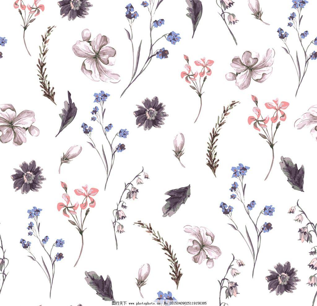 手绘花卉 花朵 鲜花 花卉插图 手绘 水彩花草 设计 矢量 eps 设计