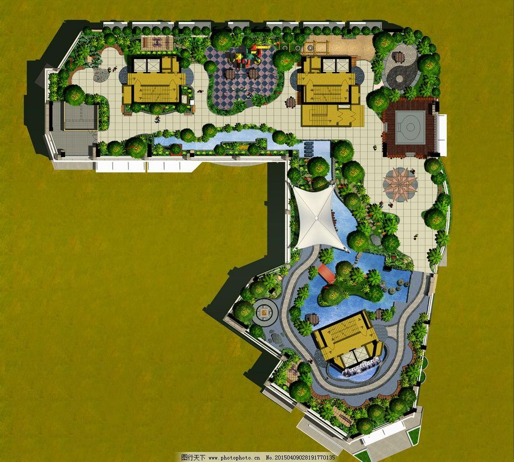 小区景观平面图图片_景观设计_环境设计_图行天下图库