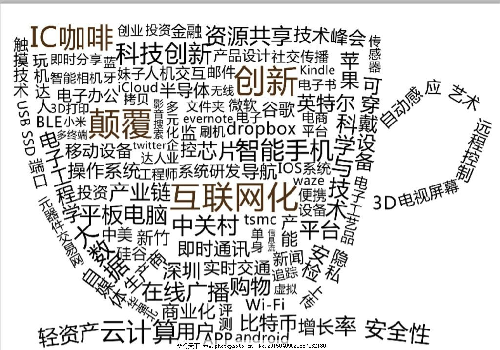 字母拼接 咖啡杯 ps矢量图