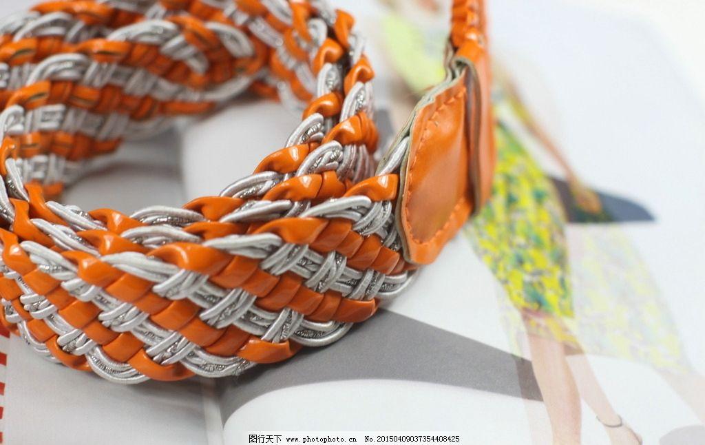 编织腰带 皮手工编制带 腰带 红色腊线腰带 女士编织带 摄影 生活百科