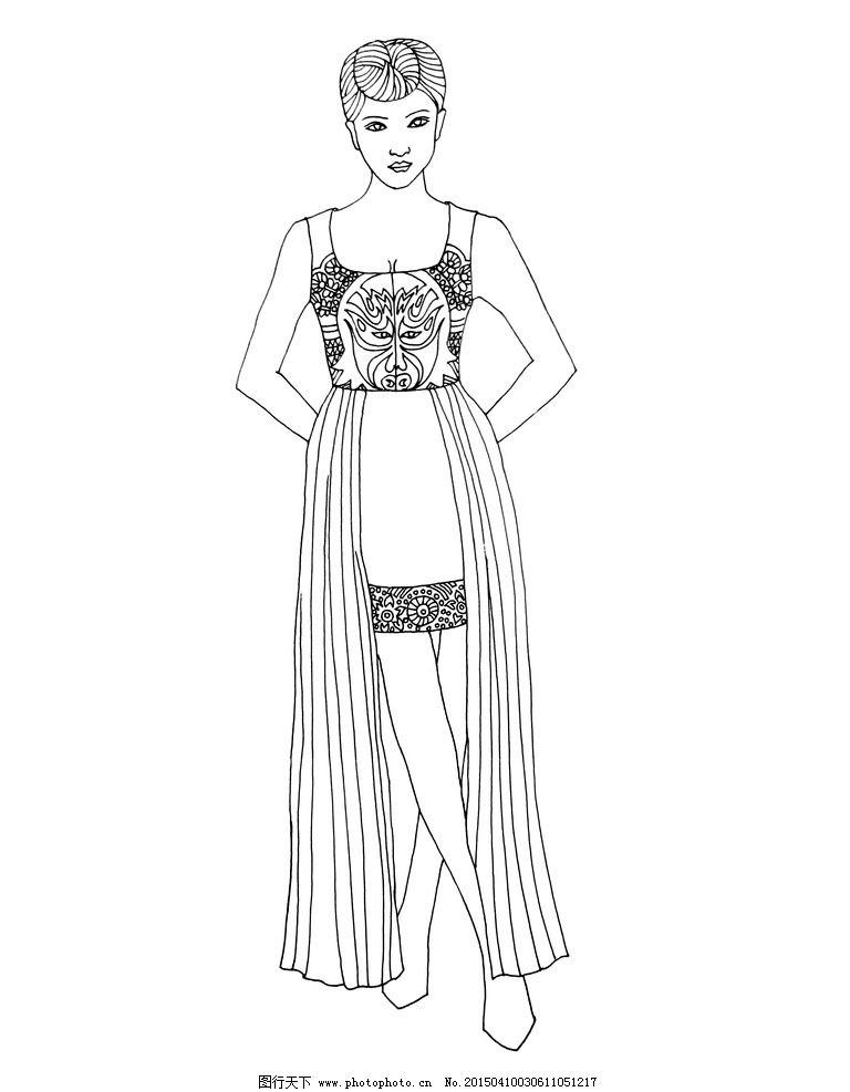 服装 线描图 手绘稿 手绘素材 手绘 线描 服装设计 线描稿 原创 服装
