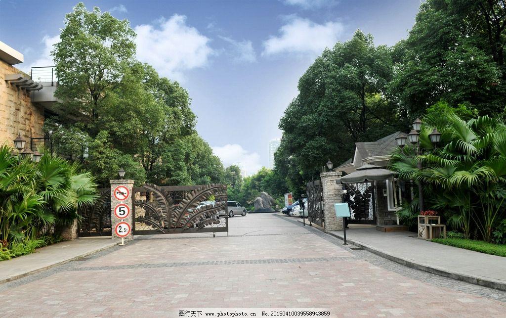 欧式公园大门图片