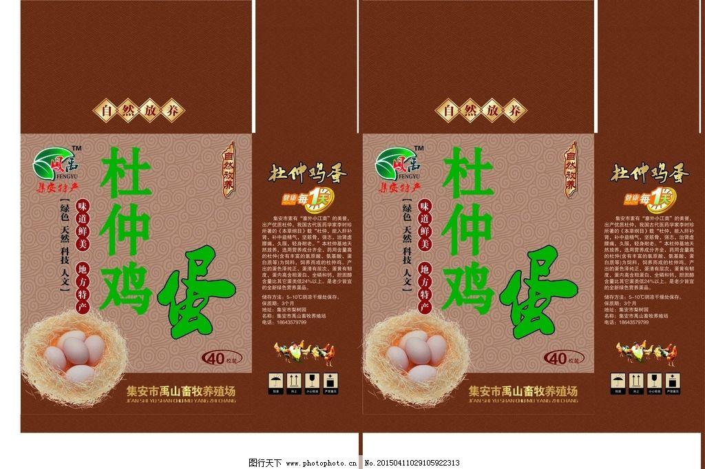 杜仲 鸡蛋 特产 礼品 包装 设计 广告设计 包装设计 300dpi psd