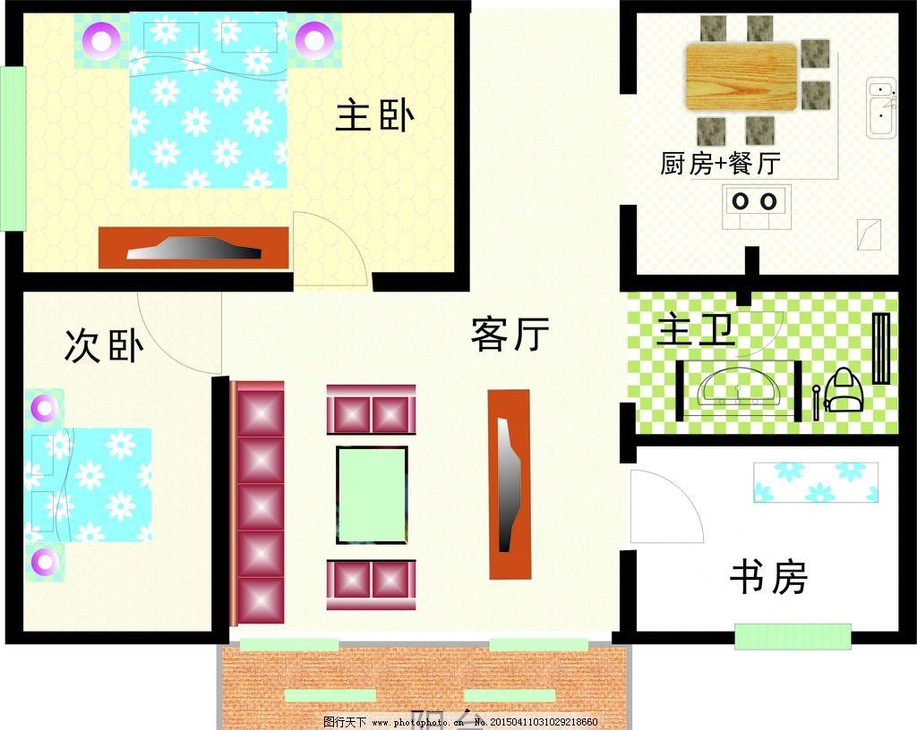 房屋平面图矢量图片图片