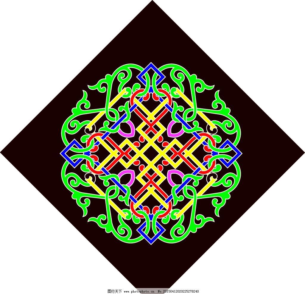 蒙古族图案图片_背景底纹_底纹边框_图行天下图库