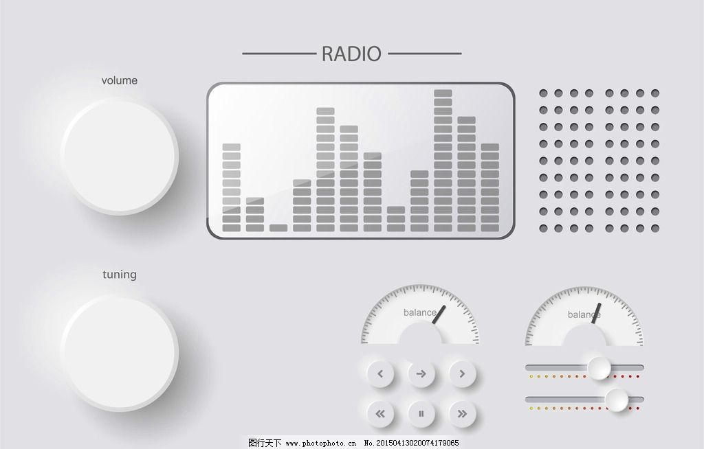 旋钮图片,按钮 音乐控制面板 手绘 网页按钮 音量调节