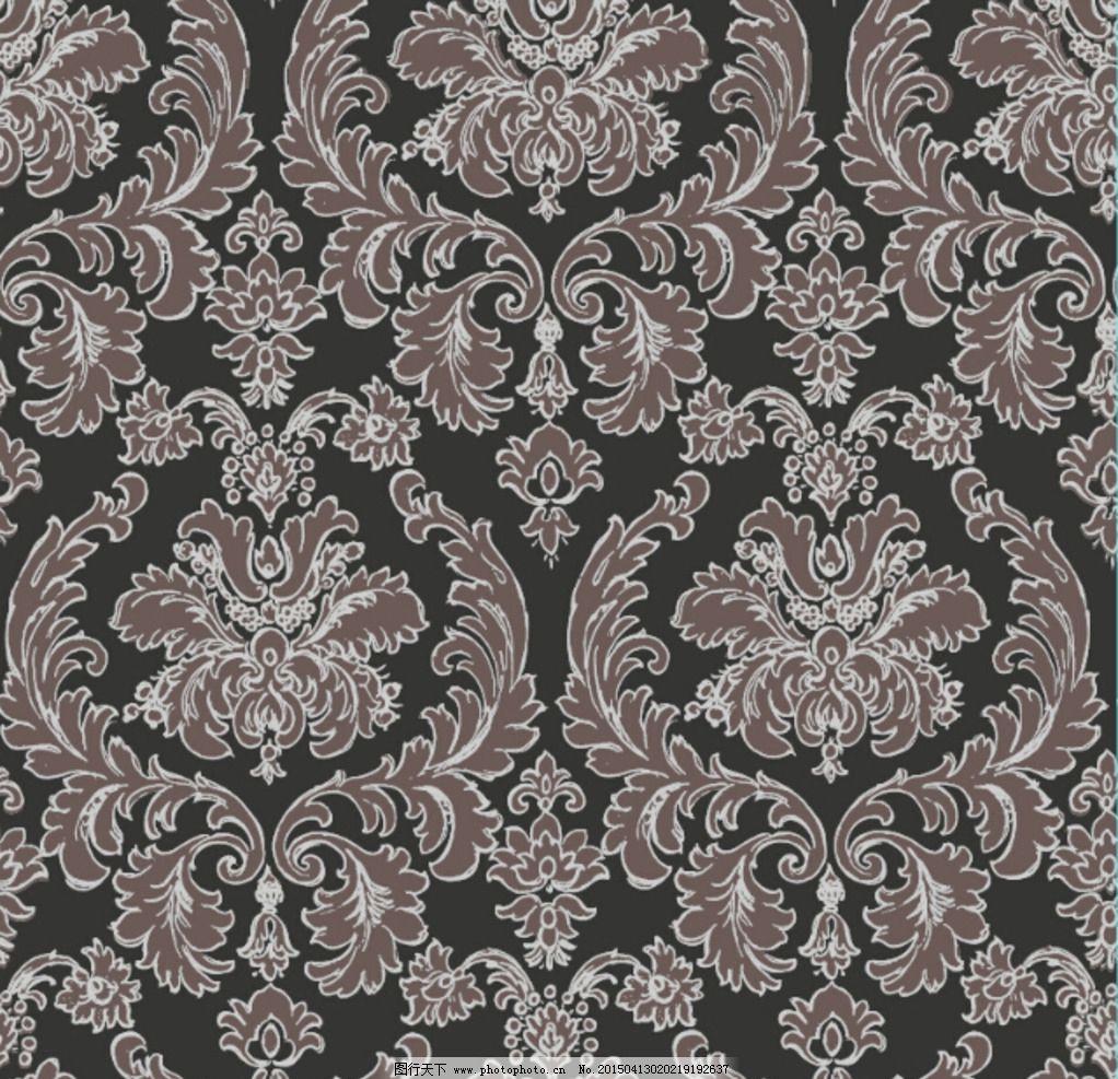 欧式 团花 大马士革 墙纸 花型 设计 底纹边框 背景底纹 120dpi psd图片
