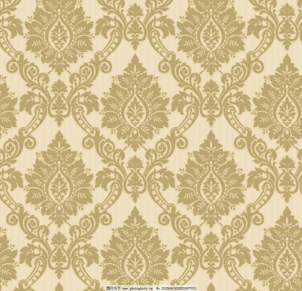 欧式 团花 大马士革 墙纸 花型 设计 底纹边框 背景底纹 119dpi psd图片
