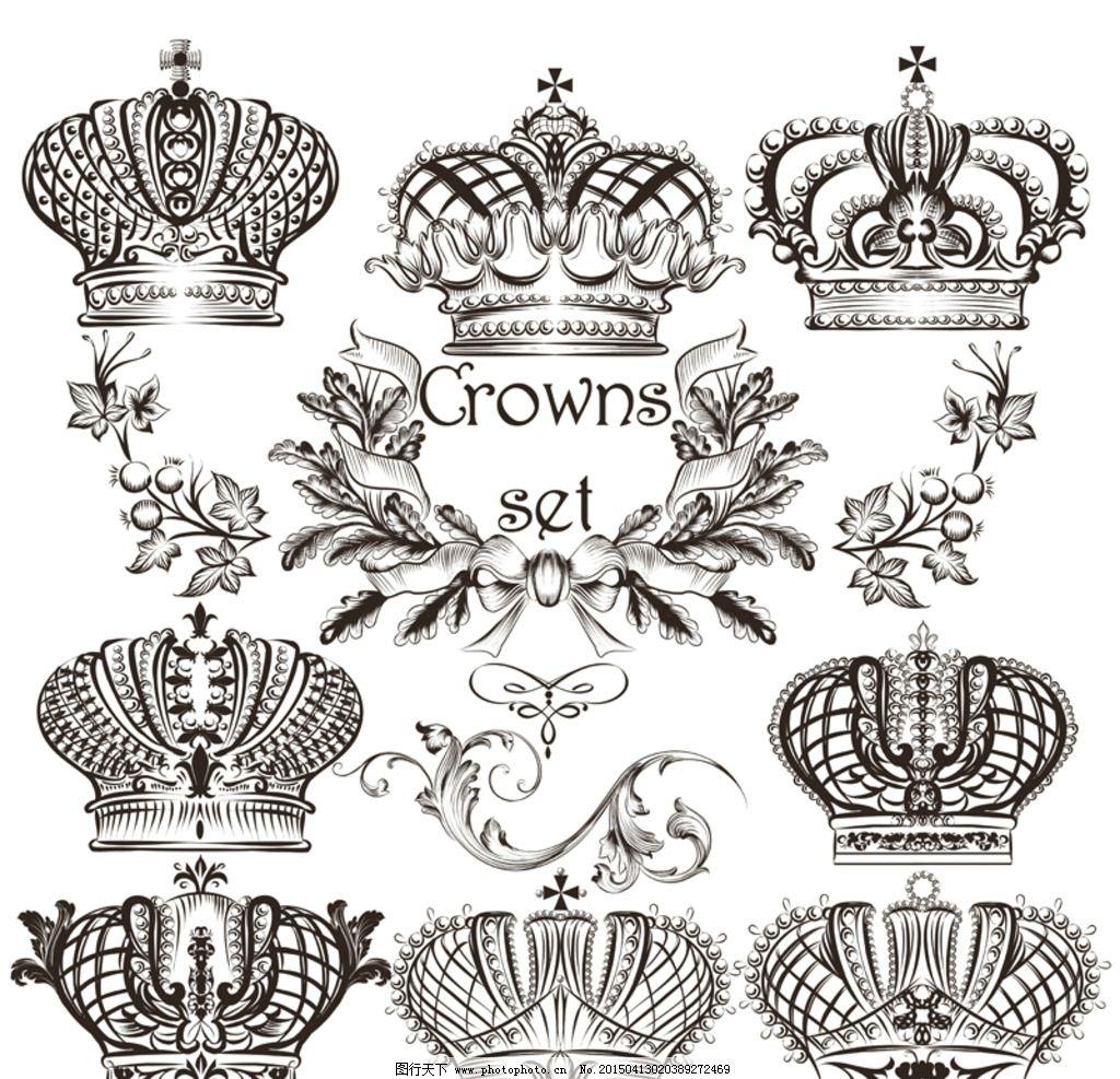 皇冠简笔画边框