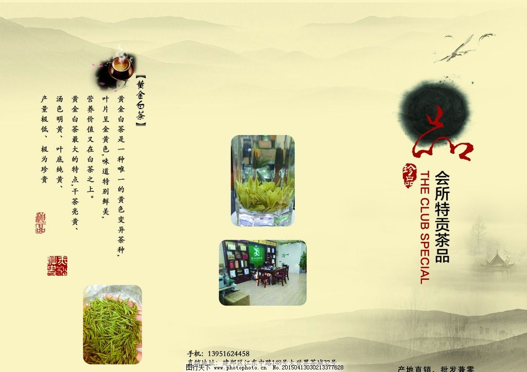 茶叶三折页图片_展板模板