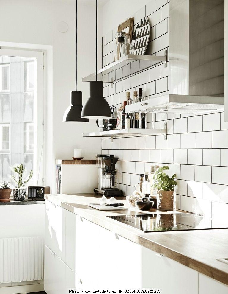 北欧风格家居 厨房 简约 现代 白色 摄影 建筑园林 室内摄影图片
