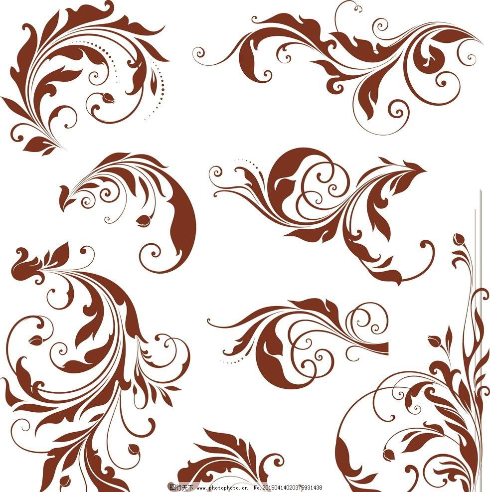 矢量图花纹-复古 分割线 矢量图