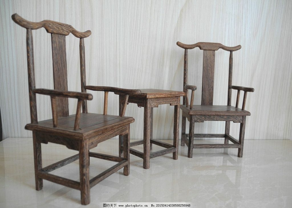 明清家具桌椅组合手绘图片大全