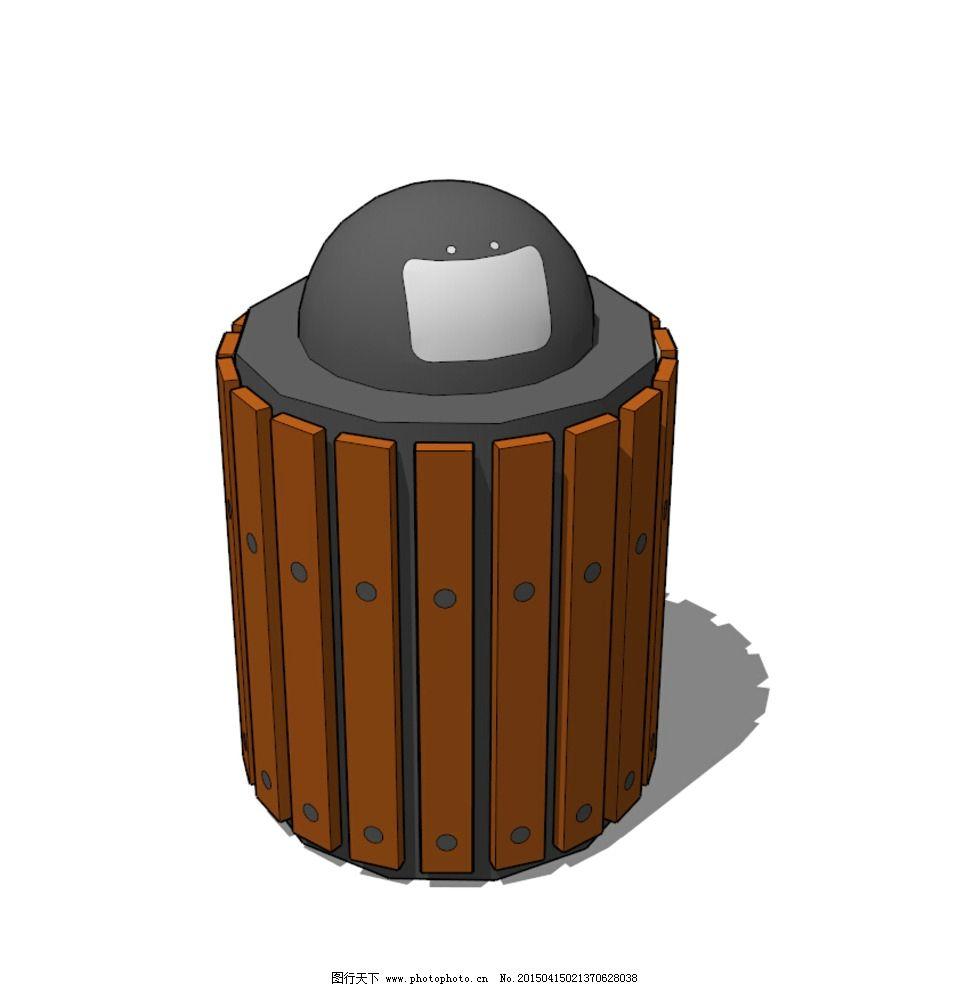 垃圾桶图片_室外模型_3d设计