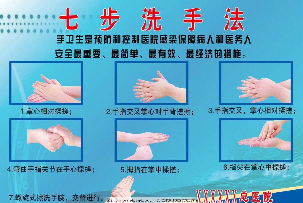洗手法 七步洗手法 医用洗手