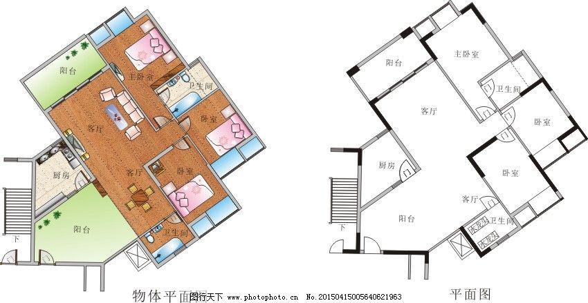 室内平面图 室内平面图免费下载 房子 楼房 地基 新房子设计 矢量图