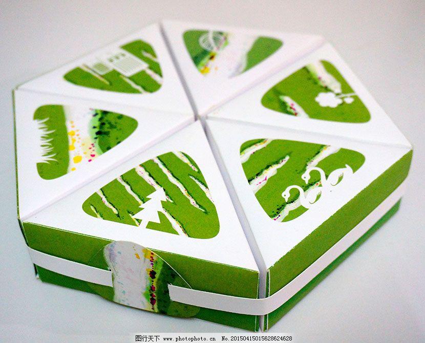 六边形 绿色 清新 三角形 绿色 清新 六边形 三角形 组合包装 原创底