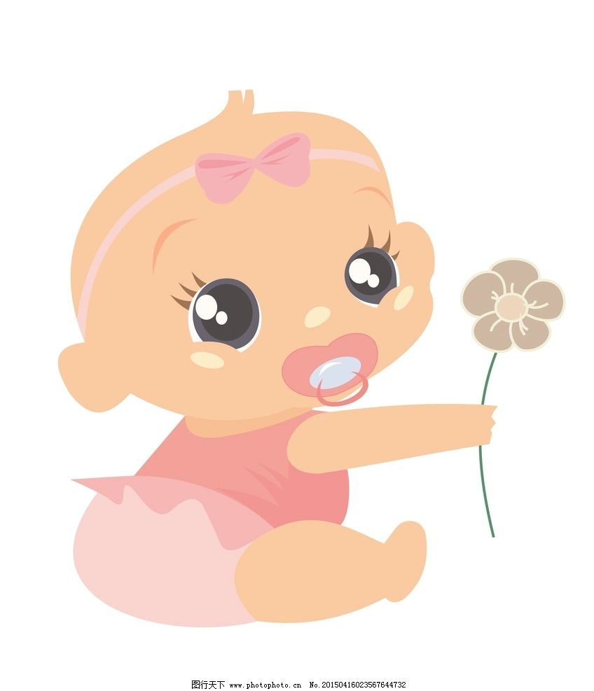 婴儿 儿童 手绘 卡通插画 儿童绘画 幼儿 漫画 孩子 可爱 玩耍