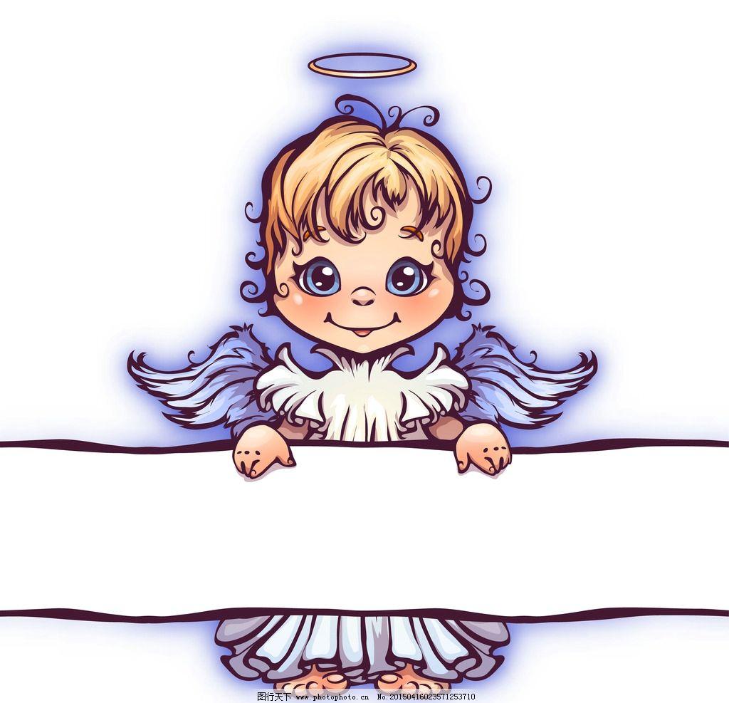 天使女孩手绘插画