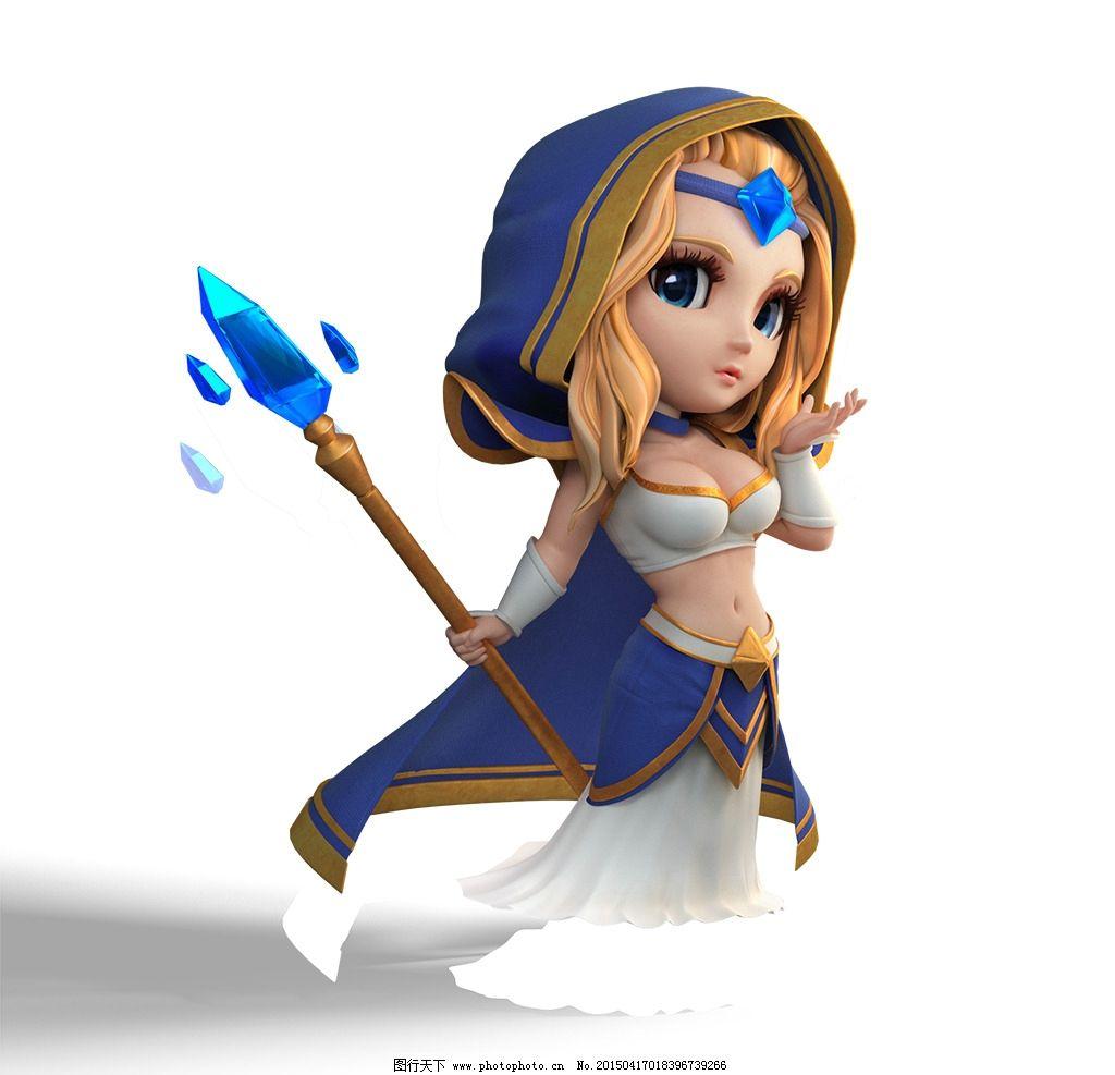 刀塔传奇人物 游戏人物 刀塔传奇游戏 原画 手游 人物素材 冰女