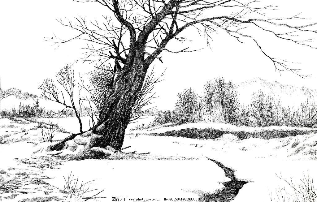 风景绘画铅笔画