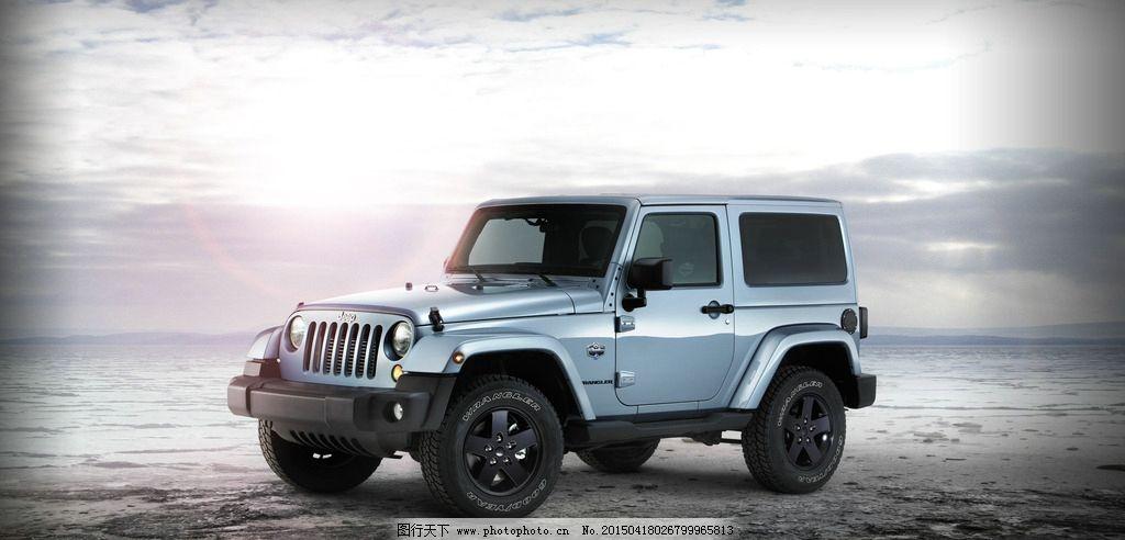 汽车 jeep 蓝天 白云 灰色图片