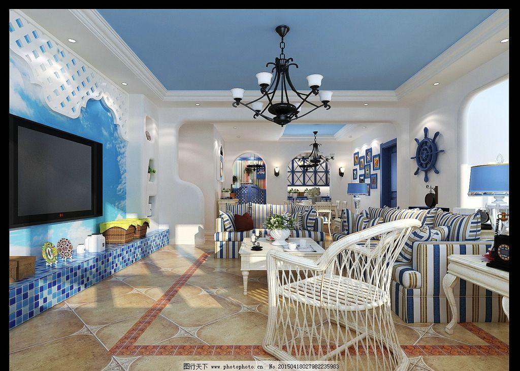 室内装修地中海风格效果图图片