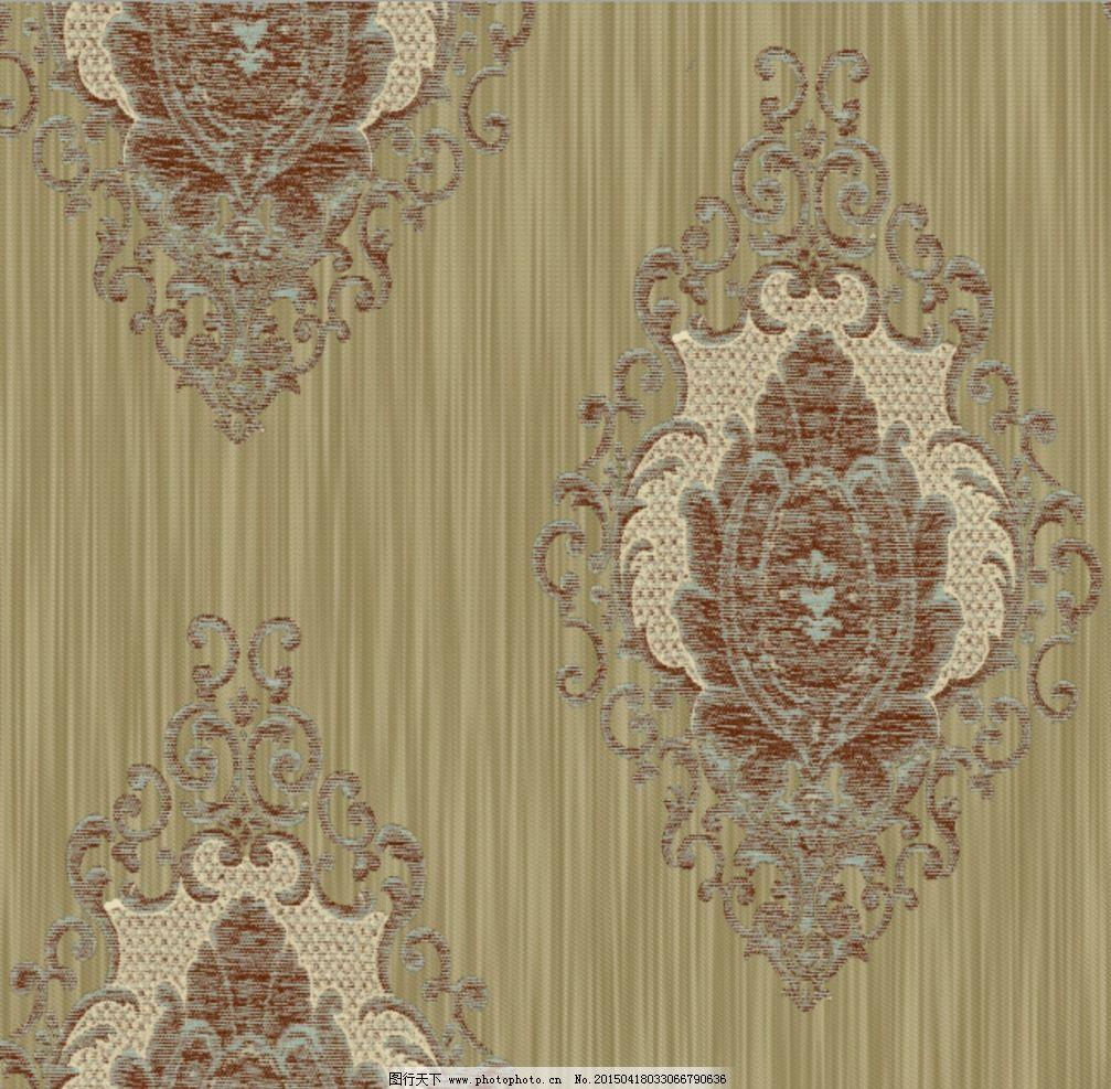 欧式 团花 大马士革 墙纸 花型 设计 psd分层素材 psd分层素材 50dpi图片
