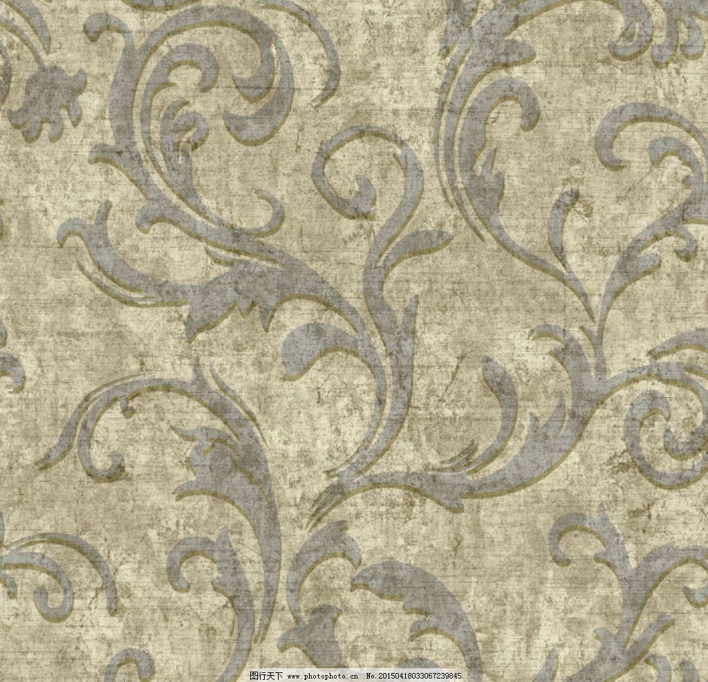 欧式 卷草 花型 背景 墙纸