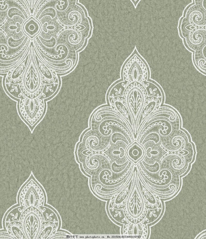 欧式 英式 大马士革 墙纸 花型 设计 psd分层素材 psd分层素材 254dpi图片